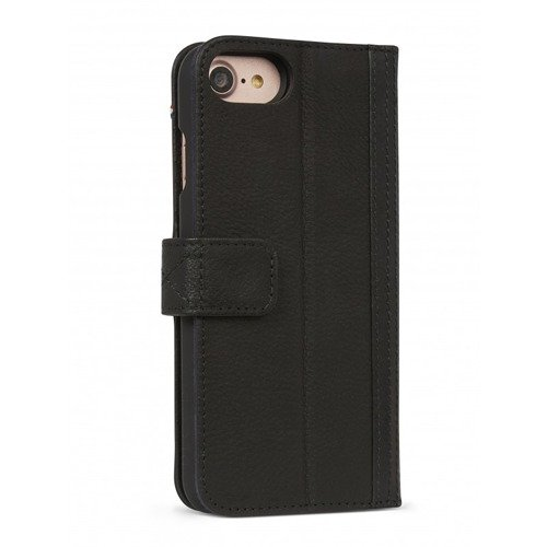 Etui - portfel skórzany 2 w 1 Decoded (czarny) - DECODED Leather 2-in1 Wallet Case iPhone 8 / 7 / 6 / 6s