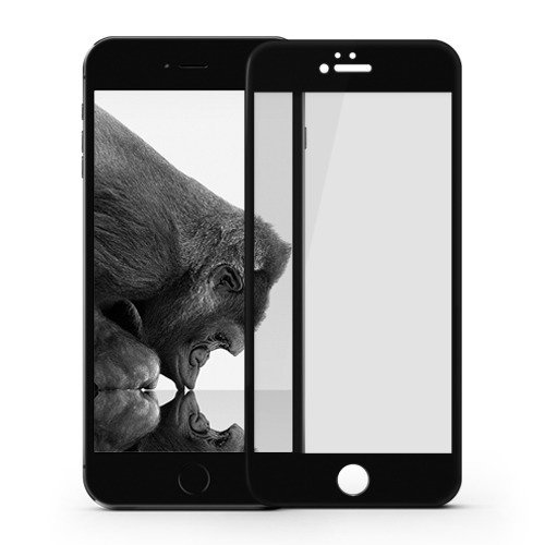 Szkło ochronne (Privacy) iPhone 6 /6S na cały ekran (czarna ramka) - Comma Privacy Tempered Glass