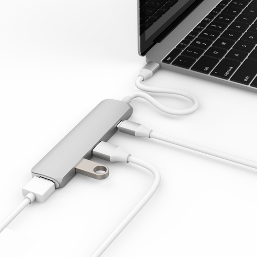 "HyperDrive USB Type-C Hub with 4K HDMI Support (for 2016 MacBook Pro & 12"" MacBook) (Silver)"