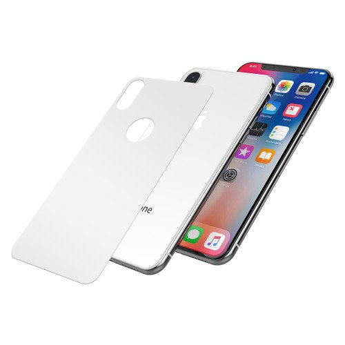 JCPAL Armor 3D Back Glass Protector iPhone X White