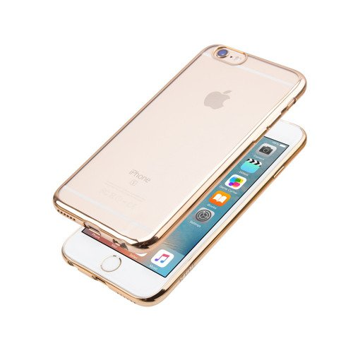 Etui JCPAL dla iPhone 6 / 6s - Crystal TPU Plated Case (Gold)