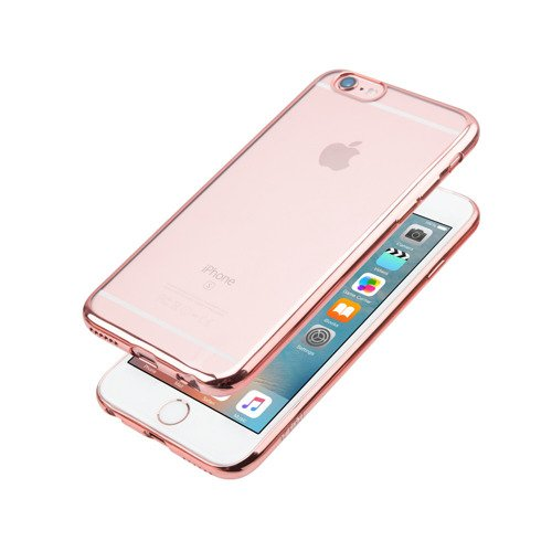 Etui JCPAL dla iPhone 6 / 6s - Crystal TPU Plated Case (Rose Gold)