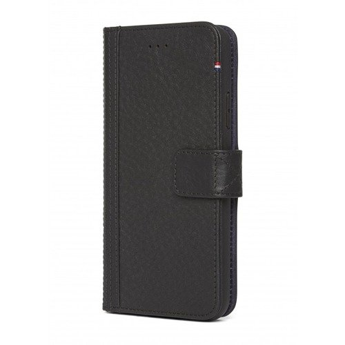 Etui - portfel skórzany Decoded (czarny) - DECODED Leather Wallet Case iPhone X
