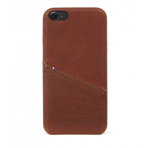 Etui skórzane Decoded (Brązowy) - DECODED Leather Back Cover for iPhone 8 / 7 / 6S