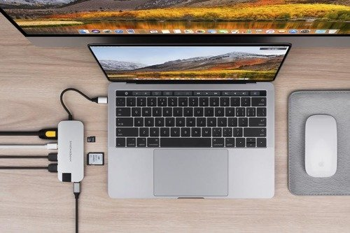 HyperDrive SLIM 8-in-1 USB-C Hub (Silver)