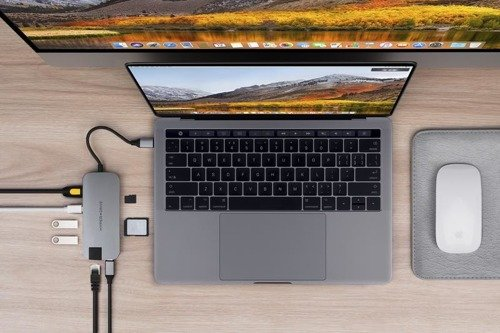 HyperDrive SLIM 8-in-1 USB-C Hub (Space Gray)