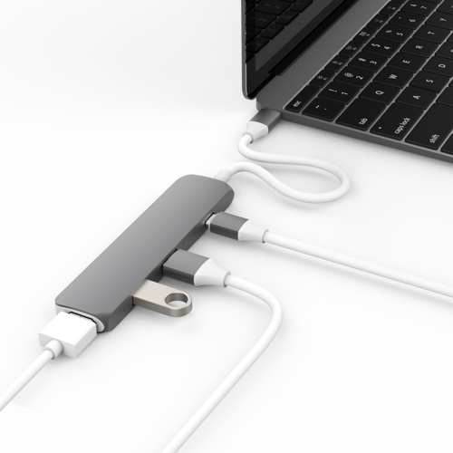 "HyperDrive USB-C Hub with 4K HDMI Support (2016 MacBook Pro & 12"" MacBook) (Space Gray)"