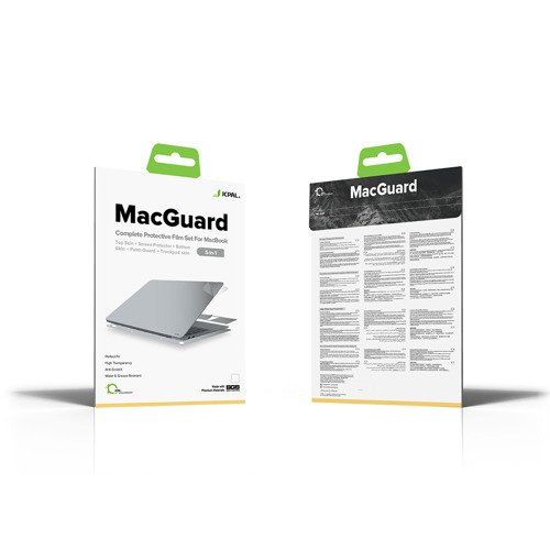 JCPAL - Folia MacGuard dla MacBook Air 2018 - Silver (5 w 1)