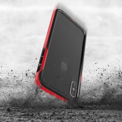 Patchworks Level Silhouette iPhone X - Red / Black