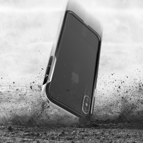 Patchworks Level Silhouette iPhone X - Silver / Black