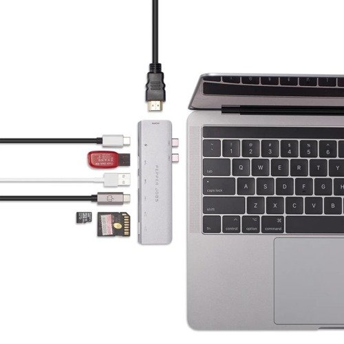 "Pepper Jobs Dual USB-C Hub for MacBook Pro 13""/15"" (2016-2018 models)"