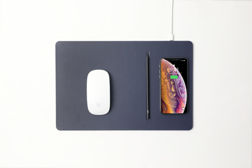 Pout Wireless Charging Mouse Pad - Deep Grey