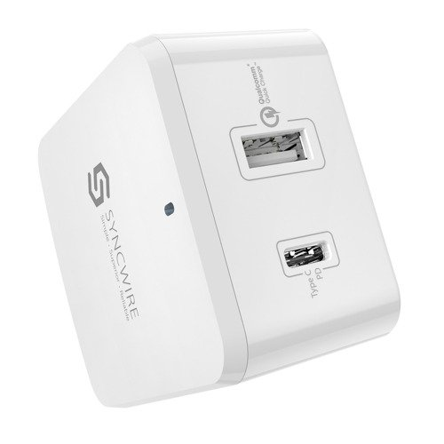 SYNCWIRE Wall Charger PD QC3.0+USB-C3.0 2Ports (EU/US/UK)