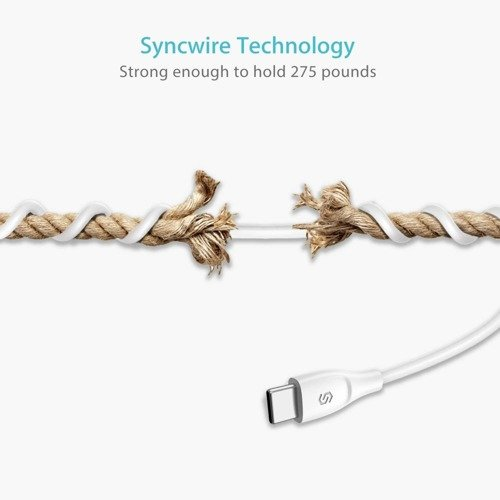 Syncwire Unbreakcable - Kabel USB-C to USB 3.0 1m - biały